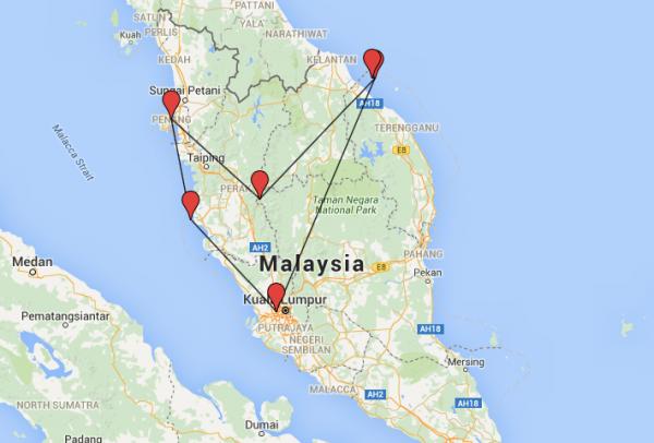 itinéraire et budget en Malaisie