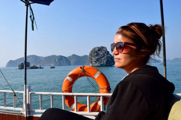Mélissa sur la Baie de Lan Ha