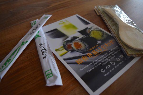 Un entrée de sushis avec Food Trip To