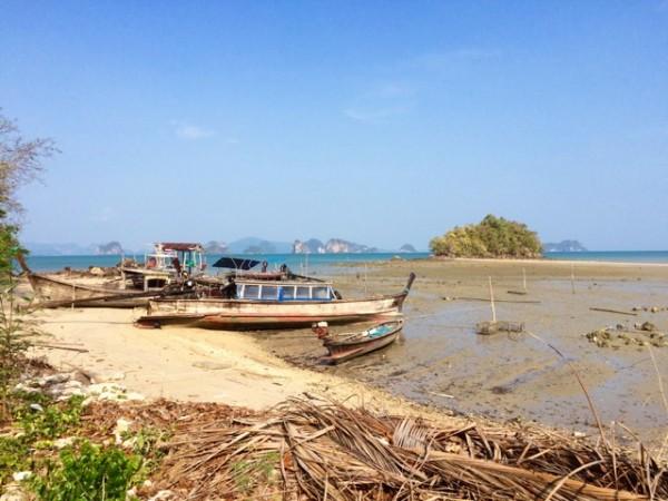 Plage à marée basse de Koh Yao Noi