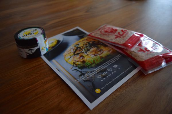 Le repas principal, une omelette japonaise