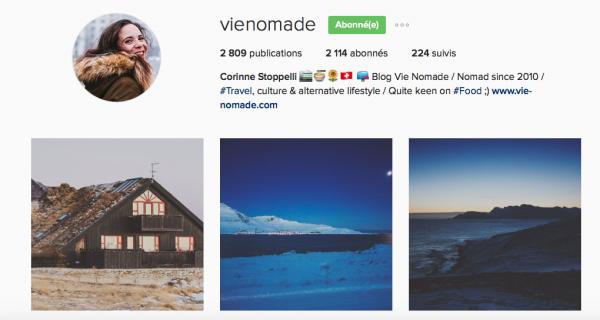 comptes Instagram de voyageurs