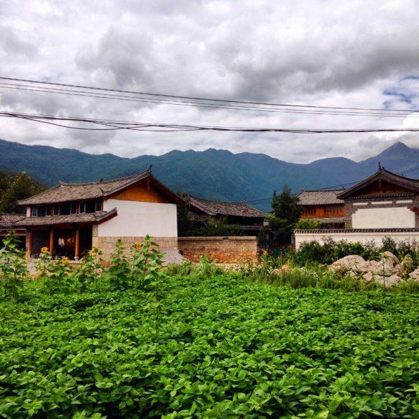Campagne chinoise dans la province du Yunnan