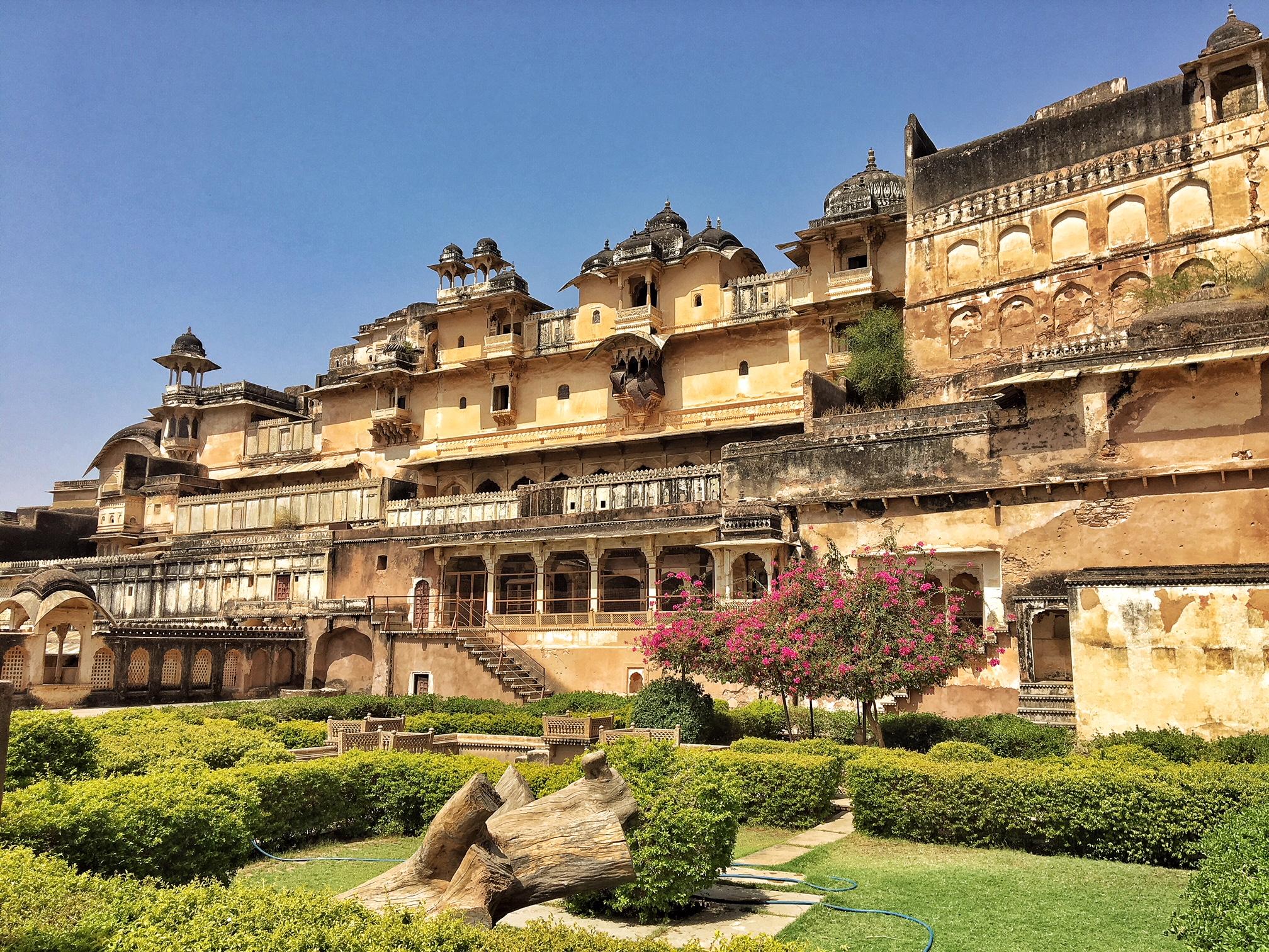 Visite du palais de Bundi