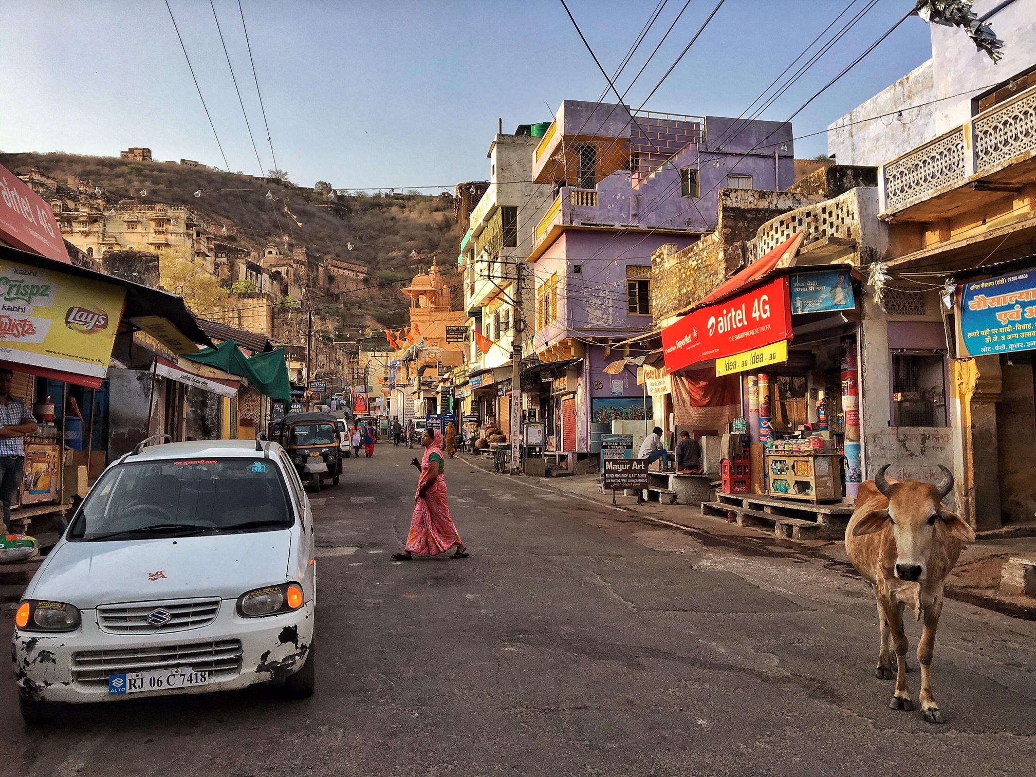 Rues de la vieille ville de Bundi