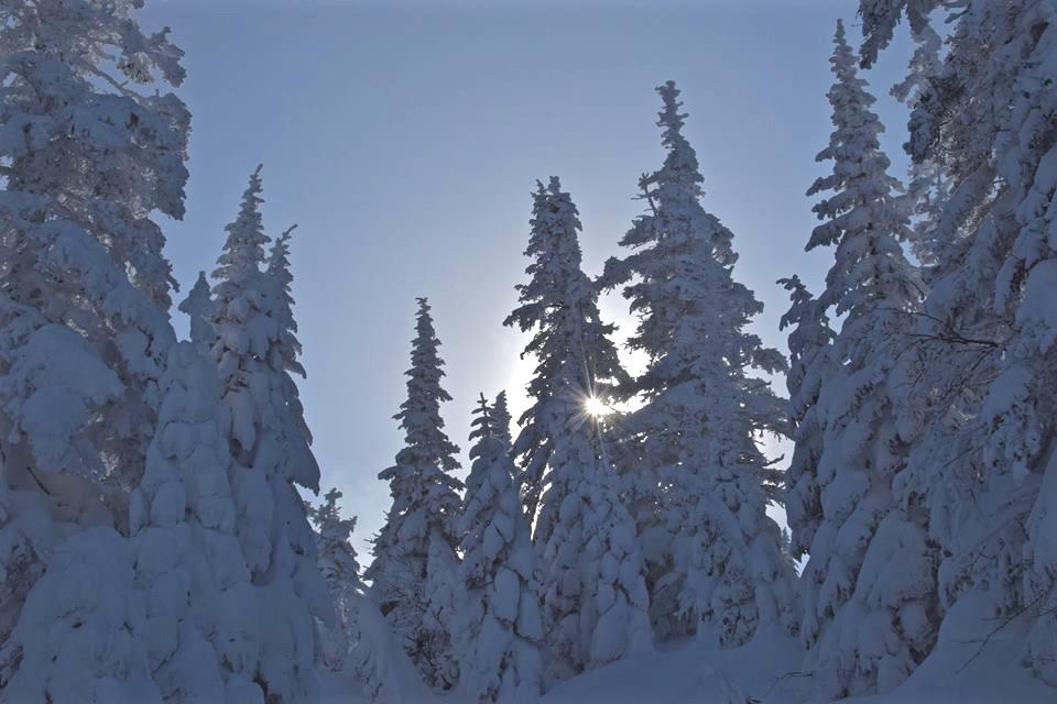 Le Saguenay en hiver et le parc national des Monts-Valin