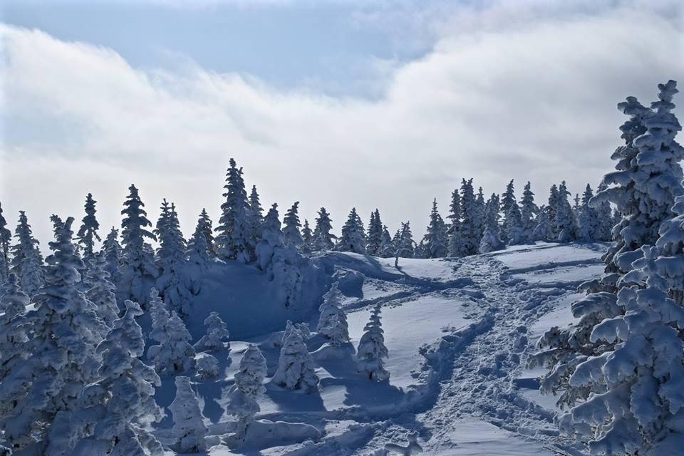 Au sommet des Monts-Valin, le Saguenay en hiver