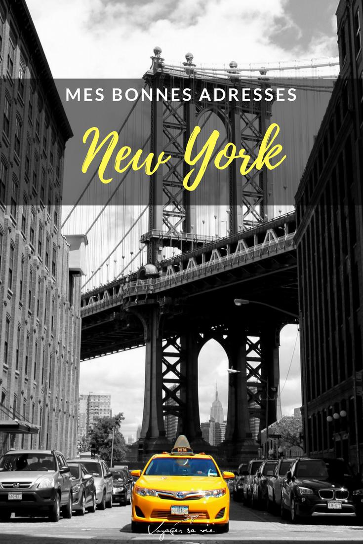 MES BONNES ADRESSES À NEW YORK
