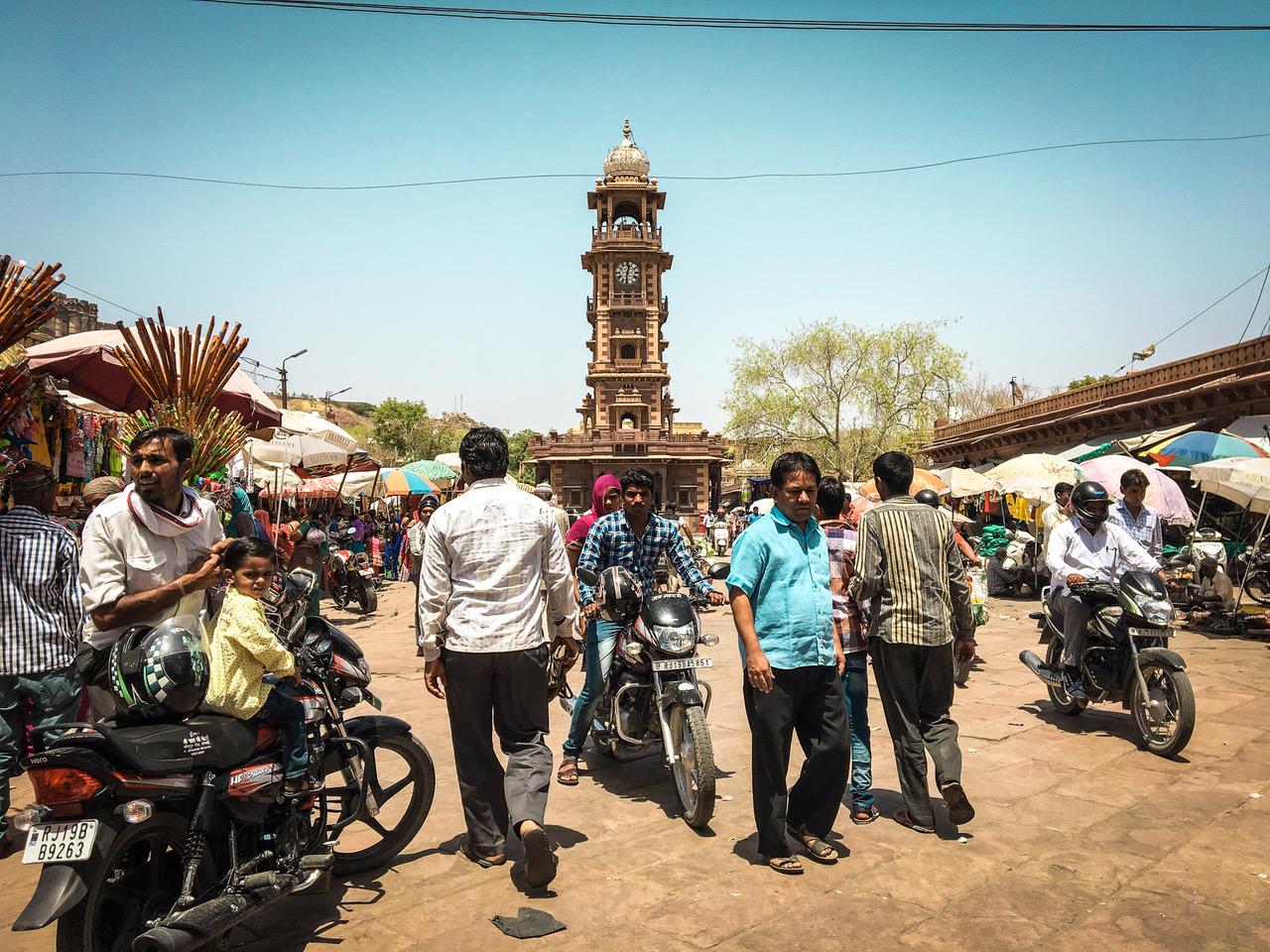 Que faire à Jodhpur? Visiter la place centrale