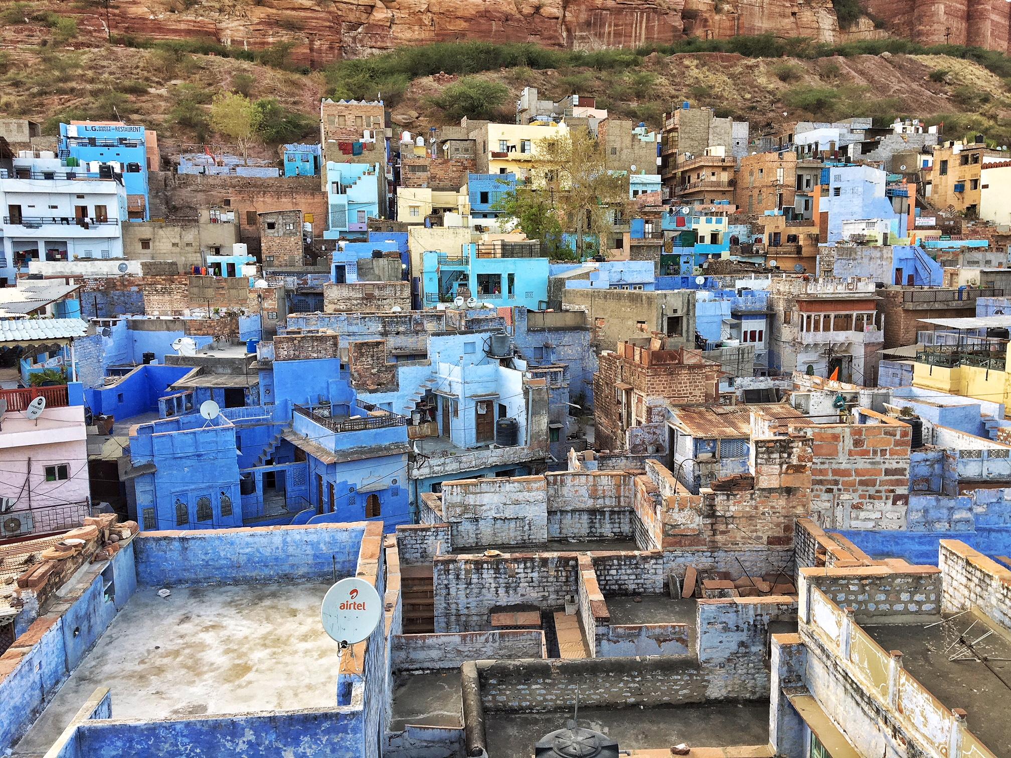 La vue de mon hôtel à Jodhpur