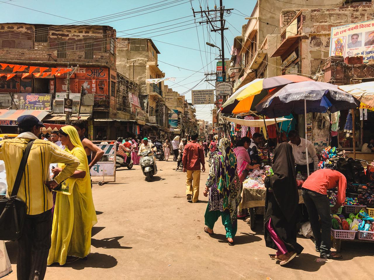 Les rues de Jodhpur