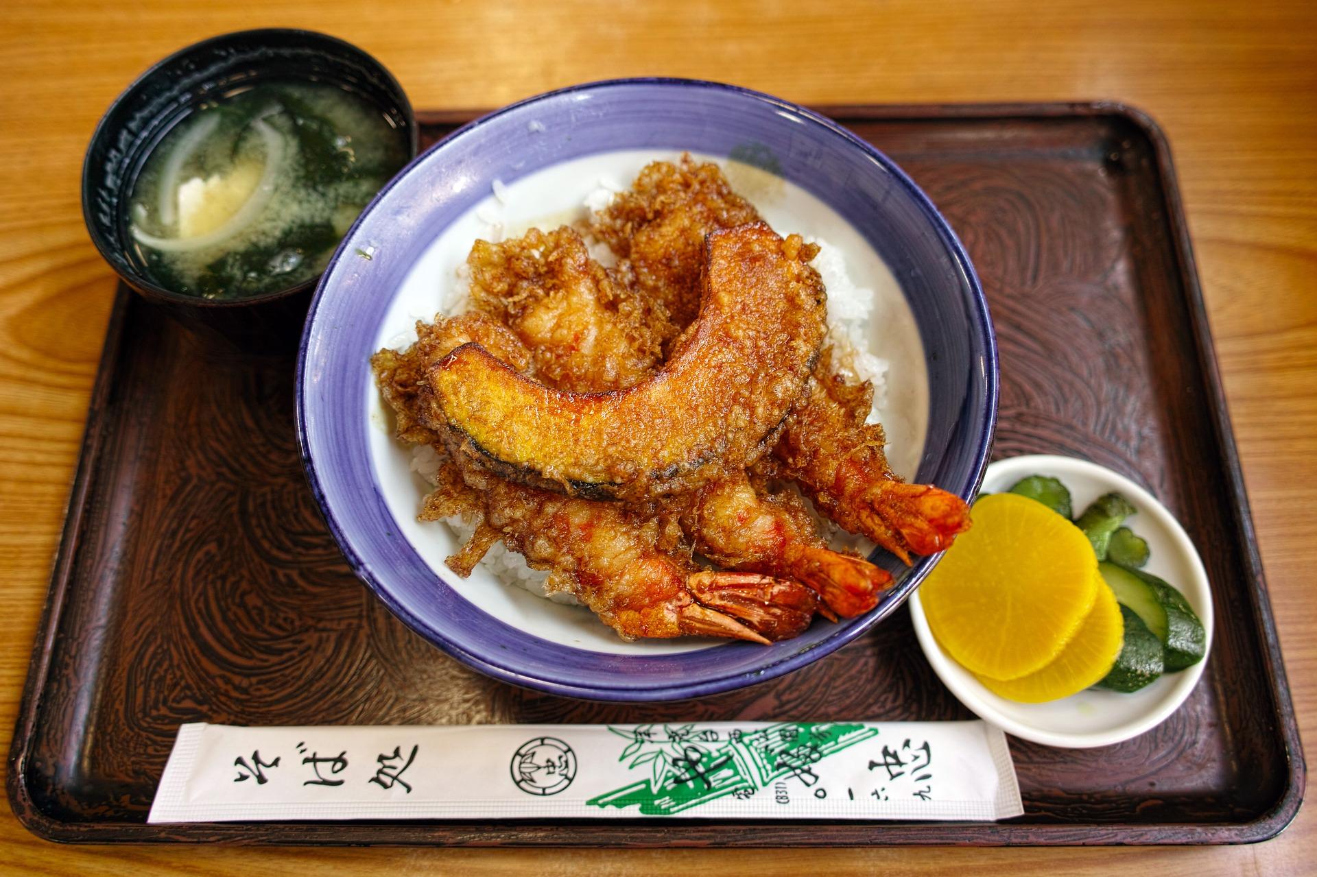 Légumes et crevette tempuras, Japon