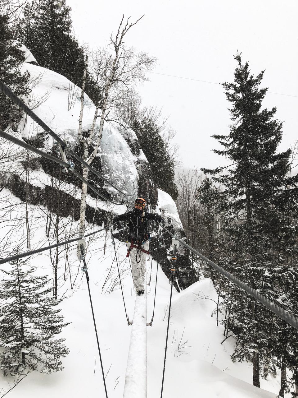 Activité hivernale dans les Laurentides : la Via Ferrata