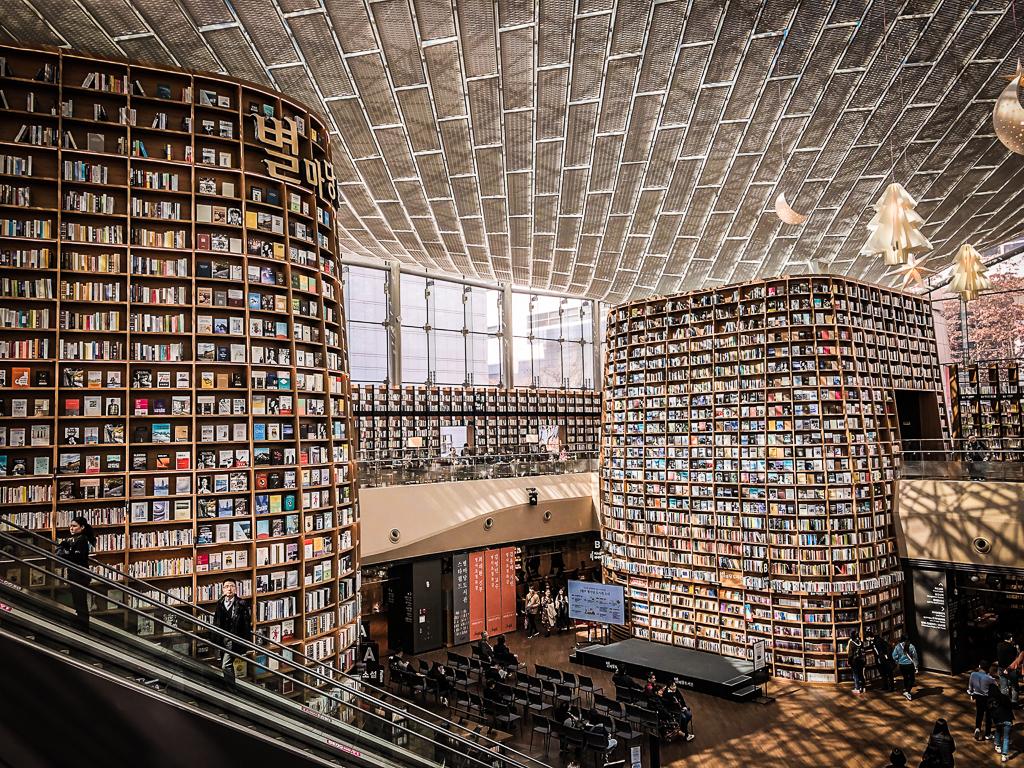 Visiter Séoul et aller voir la fameuse librairie Startfield