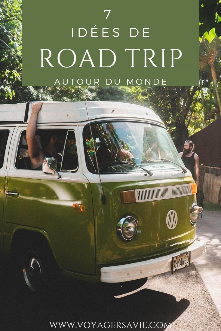 Roadtrips autour du monde : Pinterest