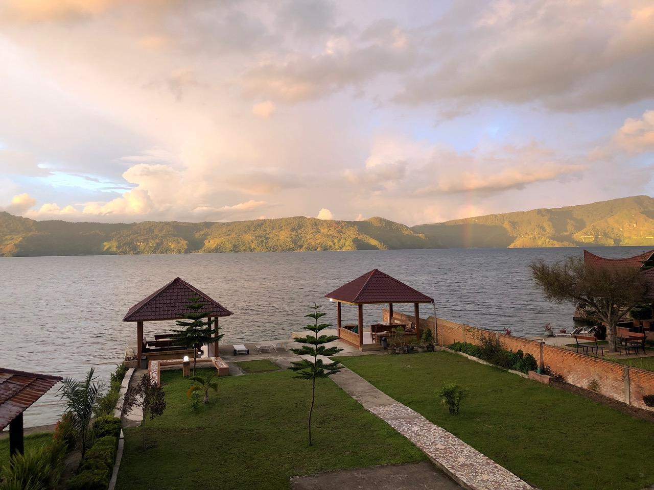 La vue de mon balcon au Lac Toba